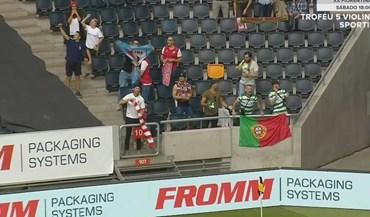 Golo do Sp. Braga na Suécia celebrado por bracarenses e... sportinguistas