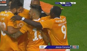 Deportivo facilitou e Corona não desperdiçou