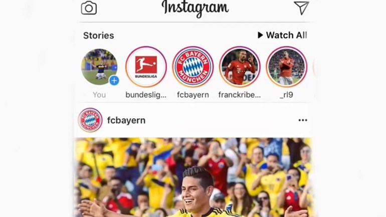 Bundesliga 'revoluciona' Instagram de James para apresentar o reforço do Bayern