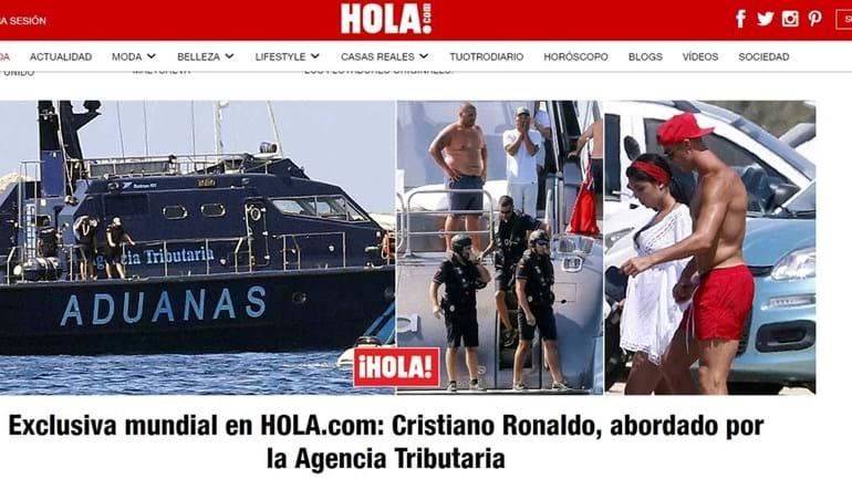 Fisco espanhol abordou Cristiano Ronaldo no seu iate alugado