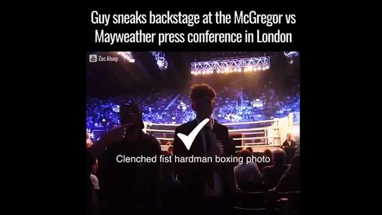 McGregor-Mayweather: infiltrou-se nos bastidores e fez o que quis...