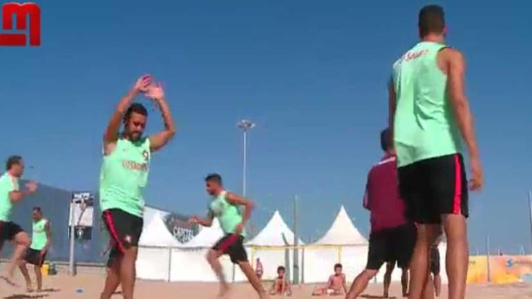 Seleção Nacional prepara estreia no Mundialito de futebol de praia