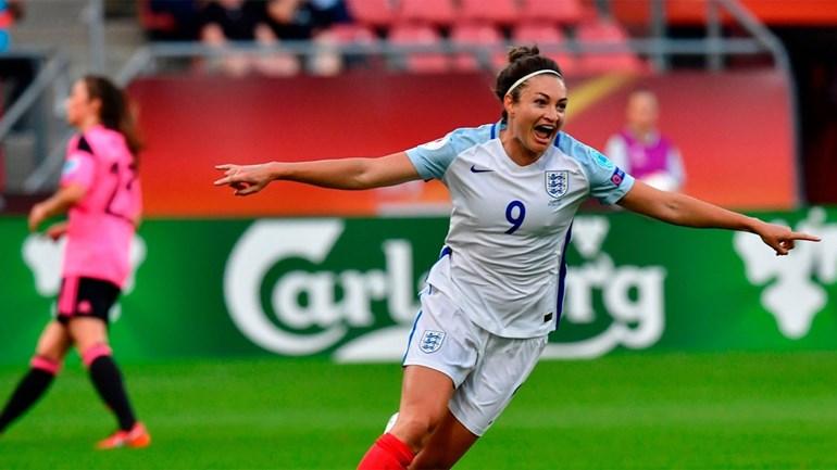 À atenção de Portugal: Inglaterra cilindra Escócia no Euro feminino