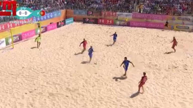 Portugal impiedoso na estreia do Mundialito de futebol de praia
