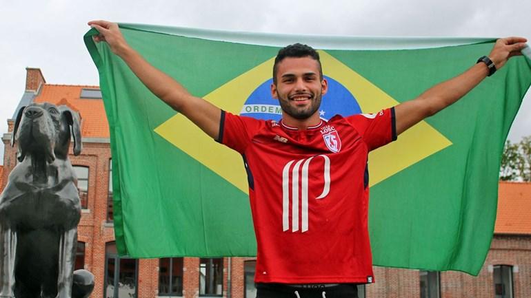 Reforço do Lille, Thiago Maia se despede dos companheiros de Santos