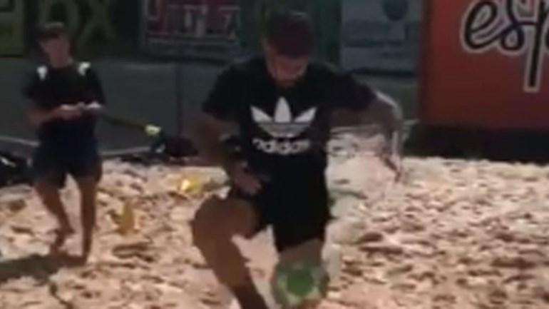 Diego Costa já se treina... sozinho