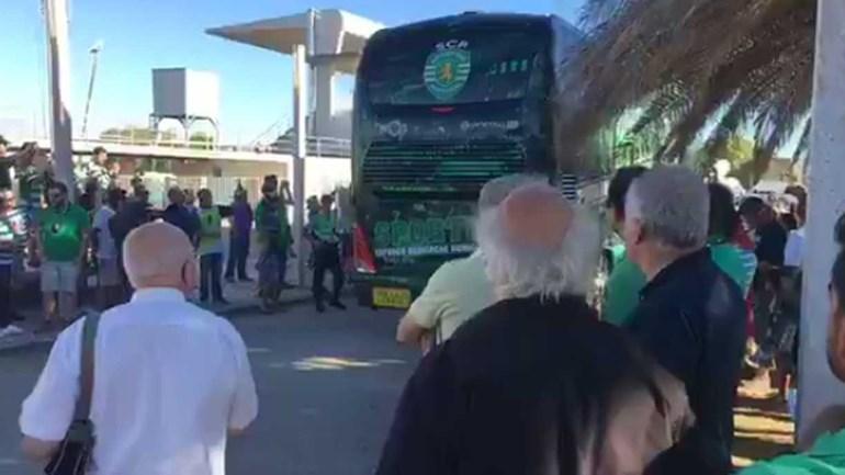 Assim foi a chegada da equipa do Sporting a Rio Maior