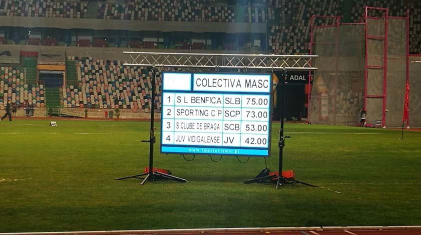 Sporting muito perto de Benfica nos masculinos do Nacional