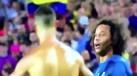 Marcelo 'picou' Ronaldo para mostrar a camisola em Camp Nou