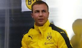 Mario Götze regressa depois de oito meses afastado dos relvados