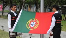 Bandeira portuguesa hasteada em Taipé