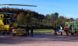 Helicóptero caiu no combate ao fogo em Castro Daire
