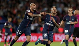 Neymar bisa na goleada do Paris SG ao Toulouse (6-2)