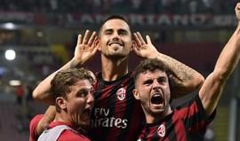 Milan supera Cagliari com André Silva no banco