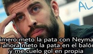 Piqué foi o alvo preferido na hora de fazer humor com o Barcelona-Real Madrid