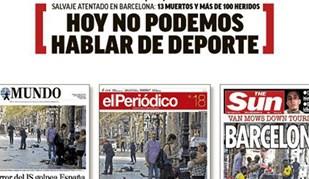 Jornais desportivos espanhóis unidos na dor