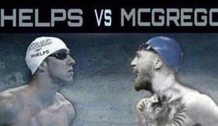 McGregor já encontrou novo adversário... e foi Phelps quem lançou o desafio