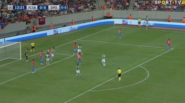 Foi assim que Doumbia adiantou o Sporting em Bucareste