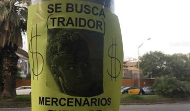 Surgem cartazes anti-Neymar junto a Camp Nou