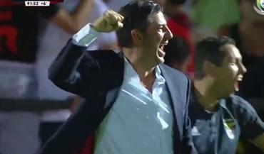 Jogadores e até Rui Vitória em êxtase após o golo de Seferovic