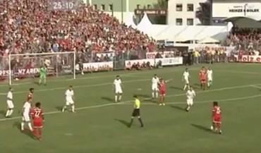Renato Sanches enche o pé e marca num particular do Bayern