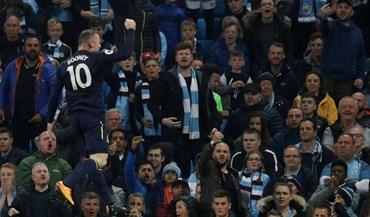 O tweet provocador de Rooney após marcar ao Man. City