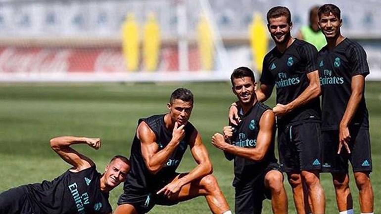 Ronaldo e a equipa vencedora