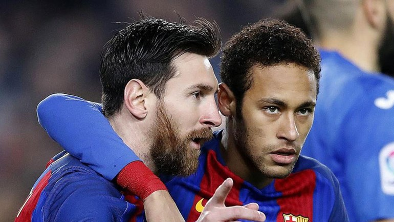 Messi para Neymar: