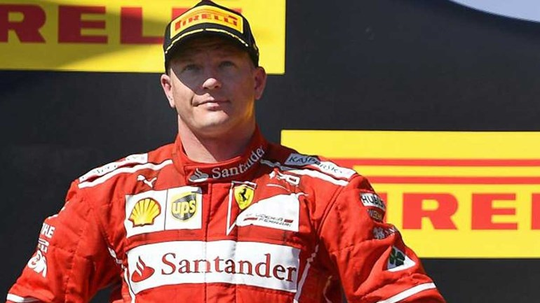 Raikkonen renova contrato com a Ferrari para 2018