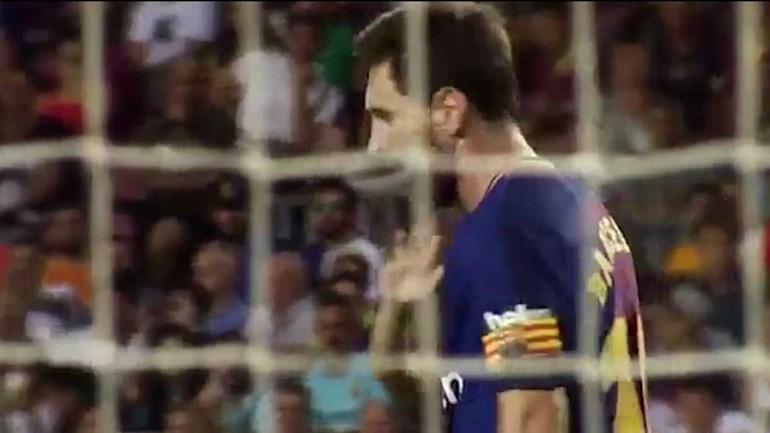 Assim foi a noite em solitário de Messi