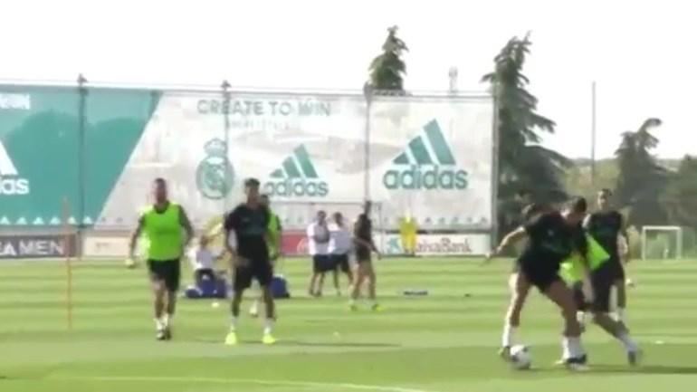 O 'nó' de Ronaldo que trocou os olhos a colega de equipa