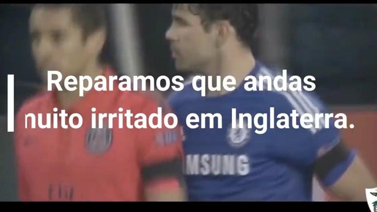 Santa Clara faz proposta a Diego Costa: «Andas muito irritado... temos a solução para ti»