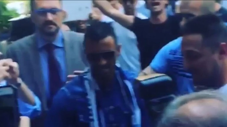 Nani ainda agora chegou mas já caiu nas graças dos adeptos da Lazio