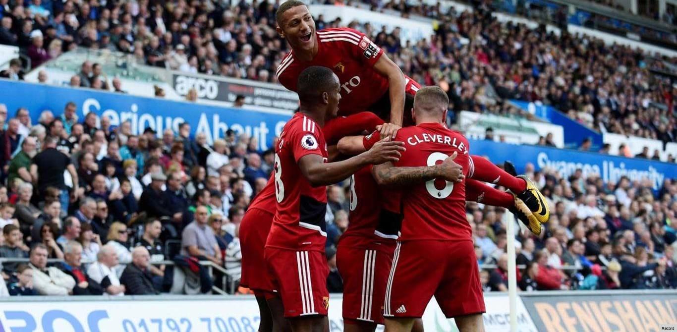 Swansea-Watford, 0-1 (1.ª parte)