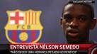 Nélson Semedo em Barcelona a torcer pelo penta