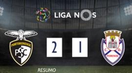 O resumo do Portimonense-Feirense (2-1)