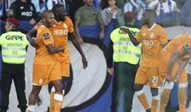 A crónica do Rio Ave-FC Porto (1-2): Revolta na Vila Boa