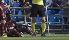 Valverde e a lesão de Dembélé: «Um jogador mais veterano tinha deixado sair a bola...»