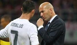 Zidane: «Espero que seja a última vez que não possa contar com Ronaldo»