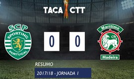 O resumo do Sporting-Marítimo (0-0)