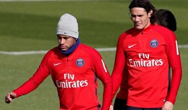 Neymar pediu desculpa aos colegas depois do incidente com Cavani