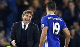 Na hora do adeus Diego Costa não esquece Conte
