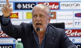 Presidente do Nápoles quer Serie A com 16 equipas