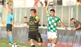 Moreirense-Sporting, 1-0 (Intervalo)