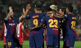 Barcelona triunfa em Girona com dois autogolos