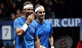 Triunfo histórico de Federer e Nadal