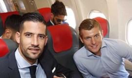 Real Madrid rumo a Dortmund com Toni Kroos na 'bagagem'