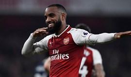 Arsenal vence WBA com bis de Lacazette