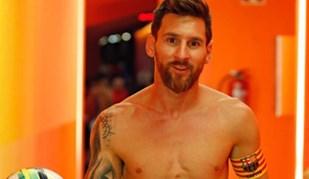 A curiosa nova tatuagem de Messi que o Barcelona revelou ao mundo