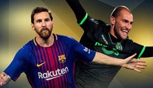 Barcelona faz questão de lembrar as diferenças entre Messi e Bas Dost